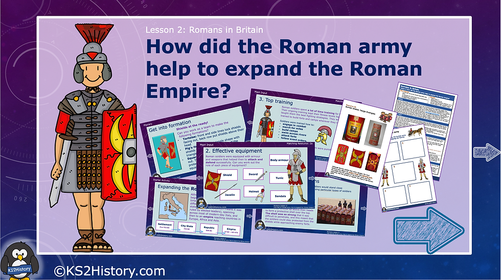 How did the Roman army help to expand the Roman Empire?