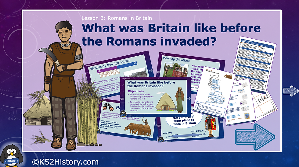 What was Britain like before the Romans invaded?