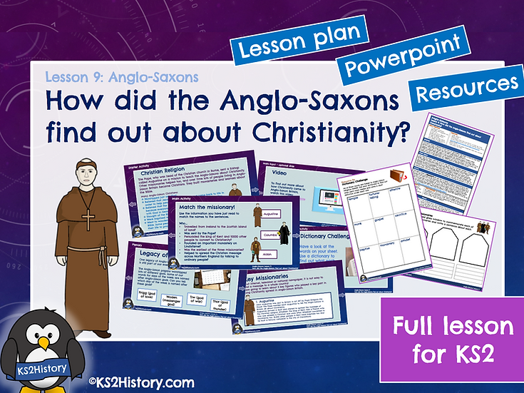 9. How did the Anglo-Saxons find out about Christianity?