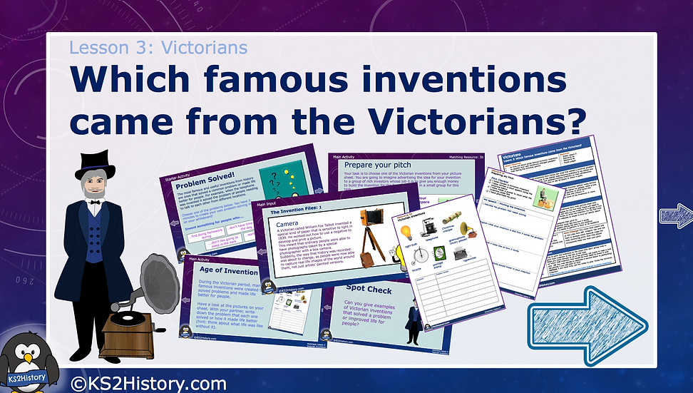 3. Which famous inventions came from the Victorians?