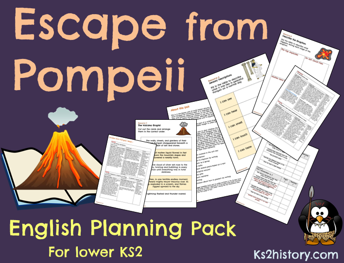 Escape from Pompeii Literacy Pack (Download)