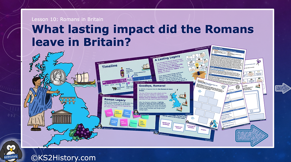What lasting impact did the Romans leave in Britain?