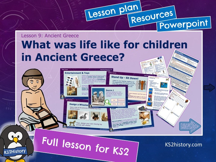 What was daily life like for children in Ancient Greece?