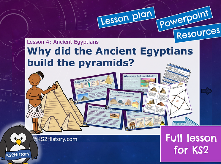 4. Why did the Ancient Egyptians build the pyramids?