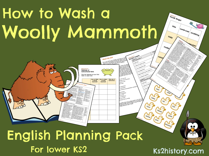 'How to Wash a Woolly Mammoth' Planning Pack (Download)