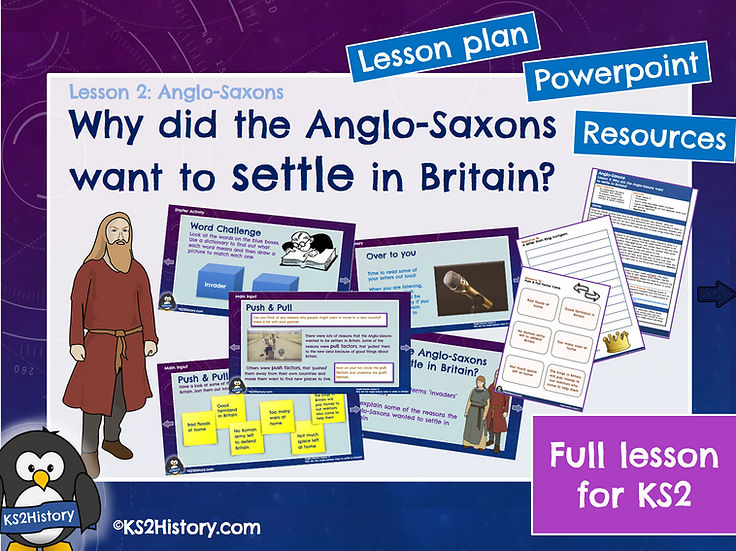 2. Why did the Anglo-Saxons want to settle in Britain?