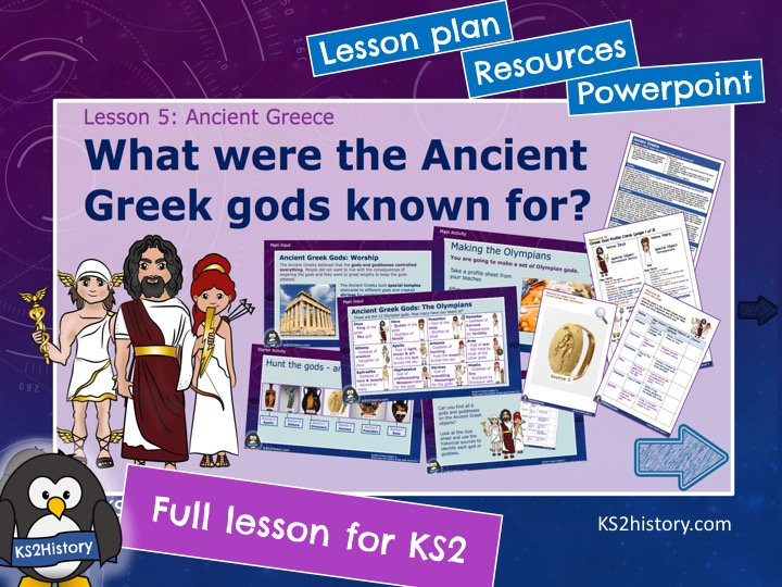 What were the Ancient Greek gods known for?