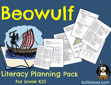 Ks2history beowulf planning the beowulf literacy pack contains a two week unit of work for year 34 based on the anglo saxon legend beowulf ccuart Choice Image