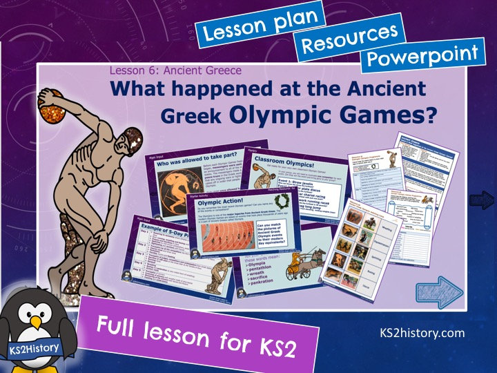 What happened at the Ancient Greek Olympic Games?