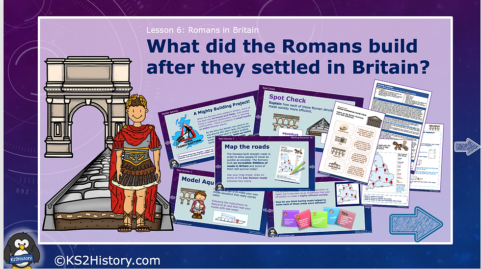 What did the Romans build after they settled in Britain?