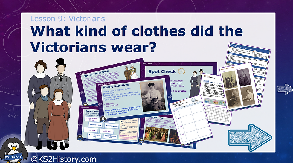 9. What kind of clothes did the Victorians wear?