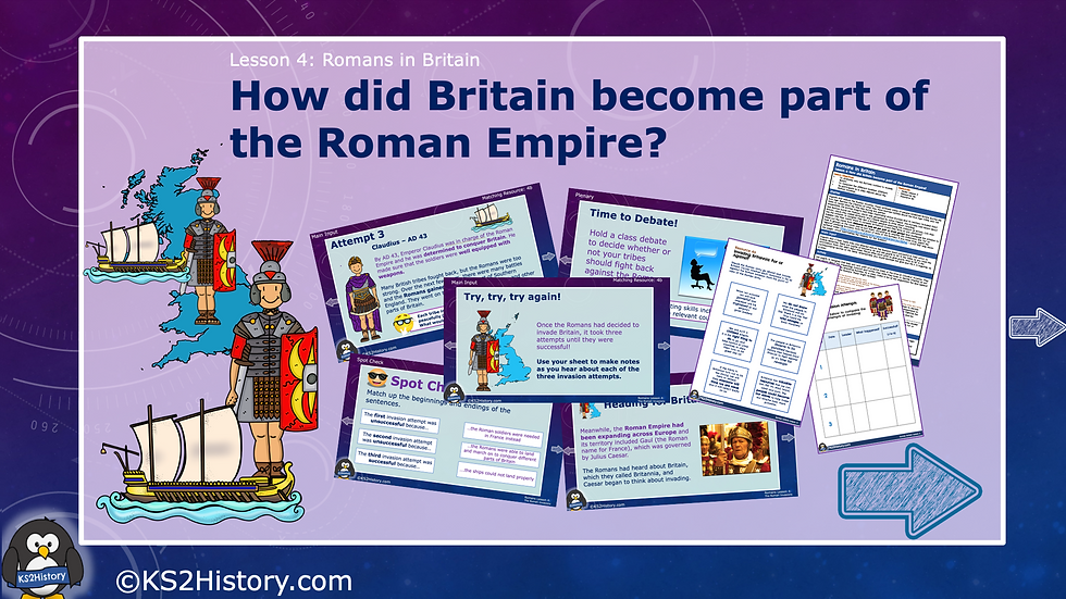 How did Britain become part of the Roman Empire?