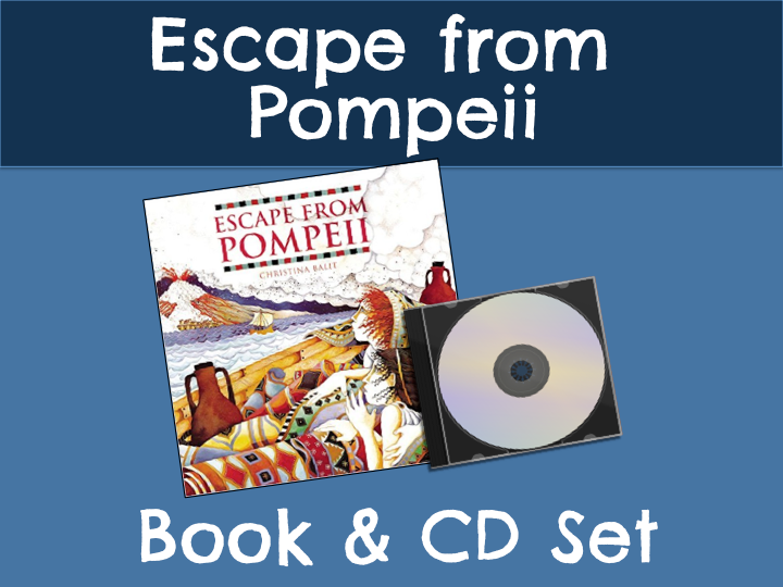 Escape from Pompeii Book & CD Set