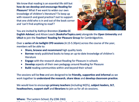 Free CPD Opportunity: Reading For Pleasure