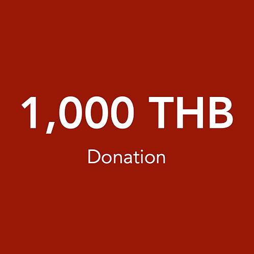 1,000 THB Donation