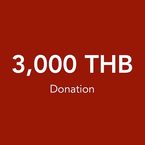 3,000 THB Donation