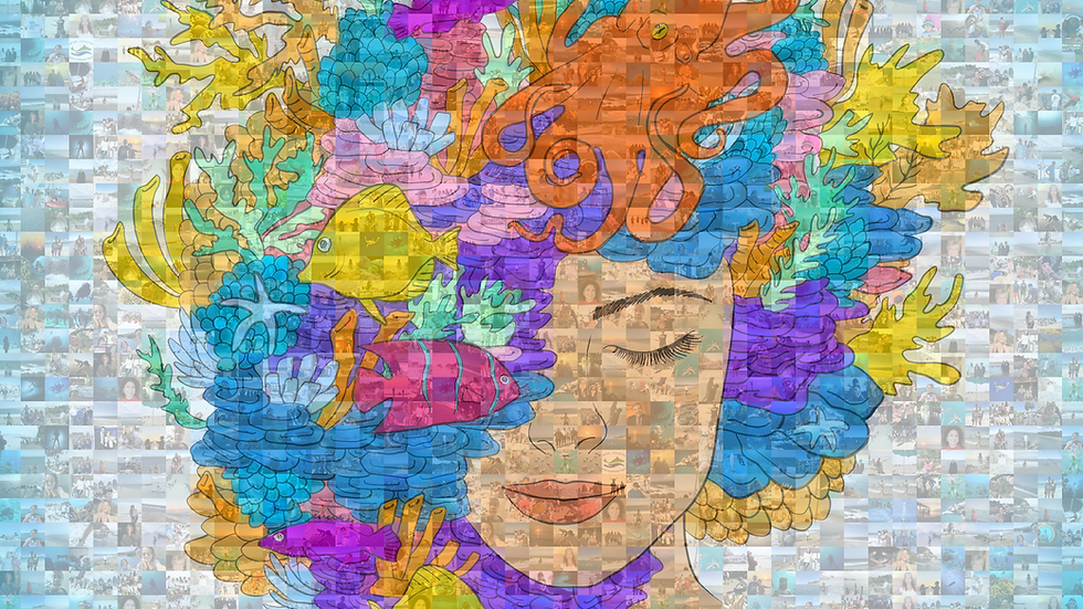 Ocean Connection Mosaic, Signed by Fabien Cousteau