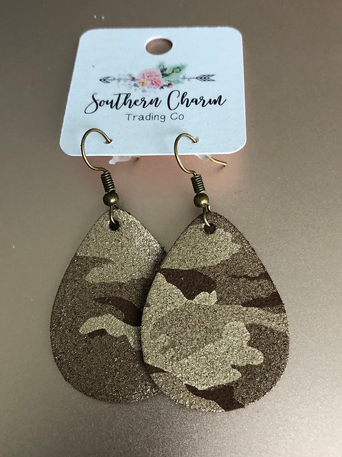 CHOCO CAMO SHIMMER EARRINGS