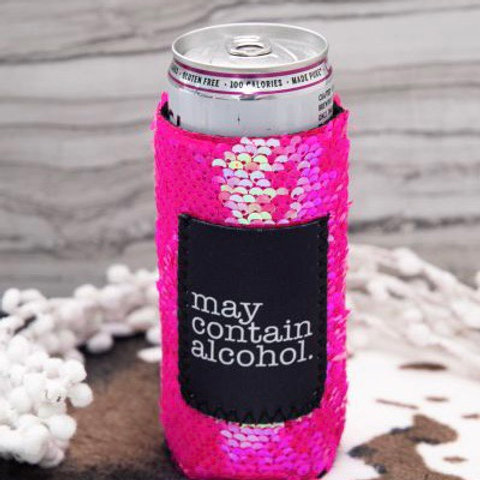 MAY CONTAIN ALCOHOL KOOZIE