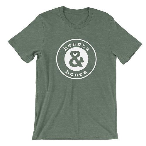 """Hearts & Bones """"Logo"""" T-Shirt - Forest Green"""