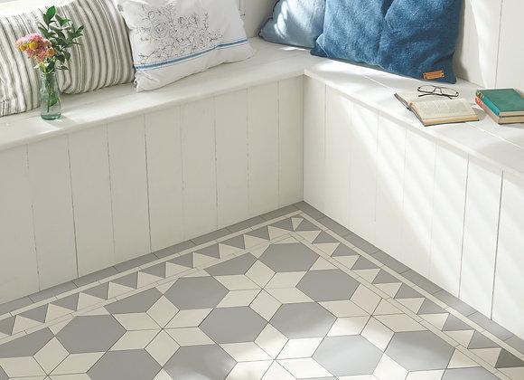 Carlisle Pattern Grey & Dover White