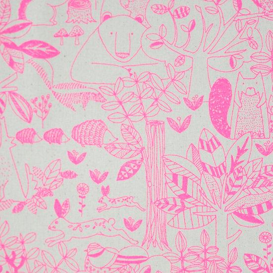 J38 Animal Farm Illustration in Hot Pink