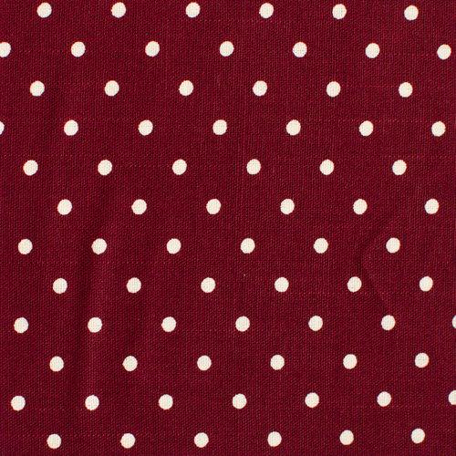 J06 Burgundy Polka Dots