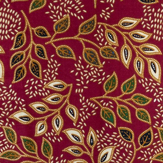 B11 Garden of Eden Batik Print in Maroon
