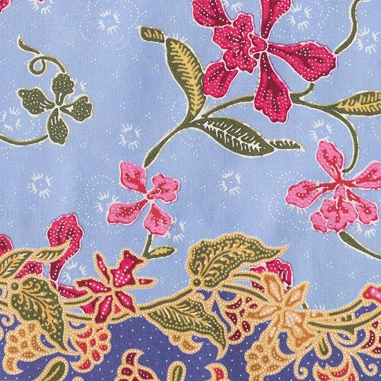 B08 Little Nyonya Batik Print in Aqua