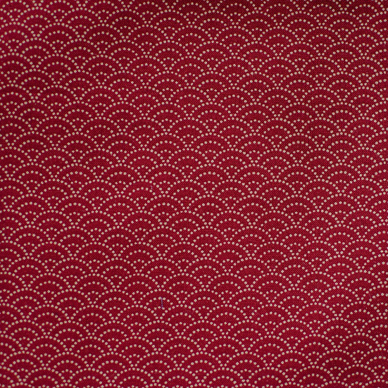 G49 Scallop Print in Maroon