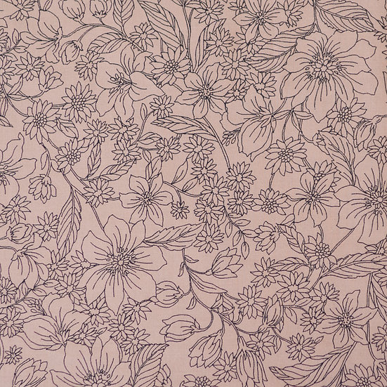 F75 Etched Florals in Dusty Pink