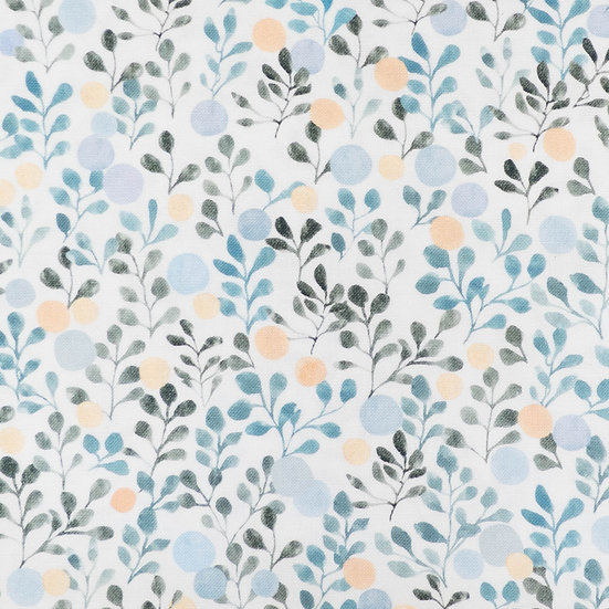 F89 Watercolour Foliage in Ethereal Blue