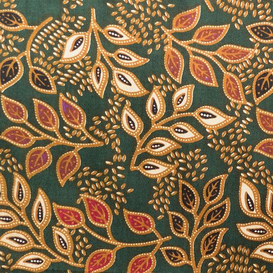 B10 Garden of Eden Batik Print in Emerald