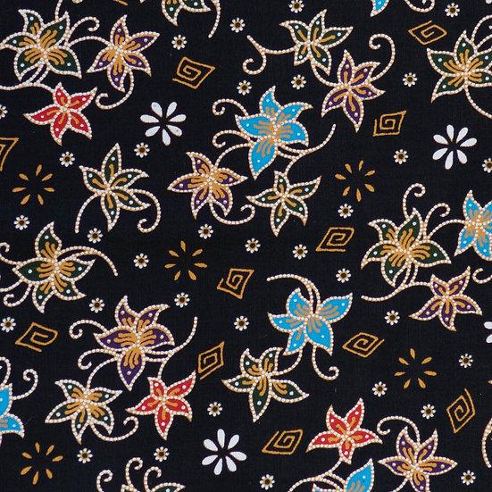 B12 Royal Lotus Batik Print in Black