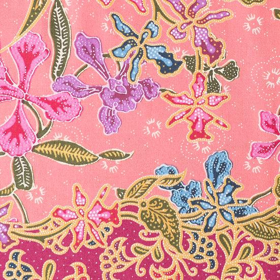 B06 Little Nyonya Batik Print in Coral