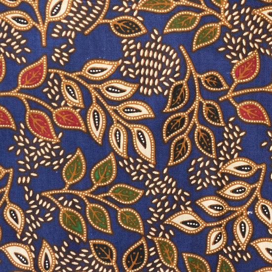 B09 Garden of Eden Batik Print in Indigo
