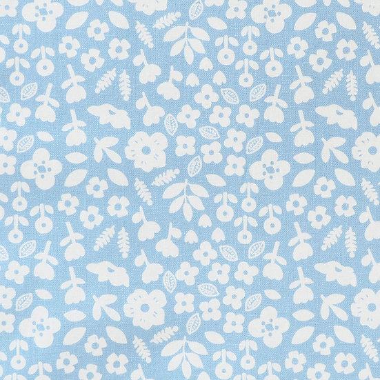 F87 Floral Stamp on Powder Blue