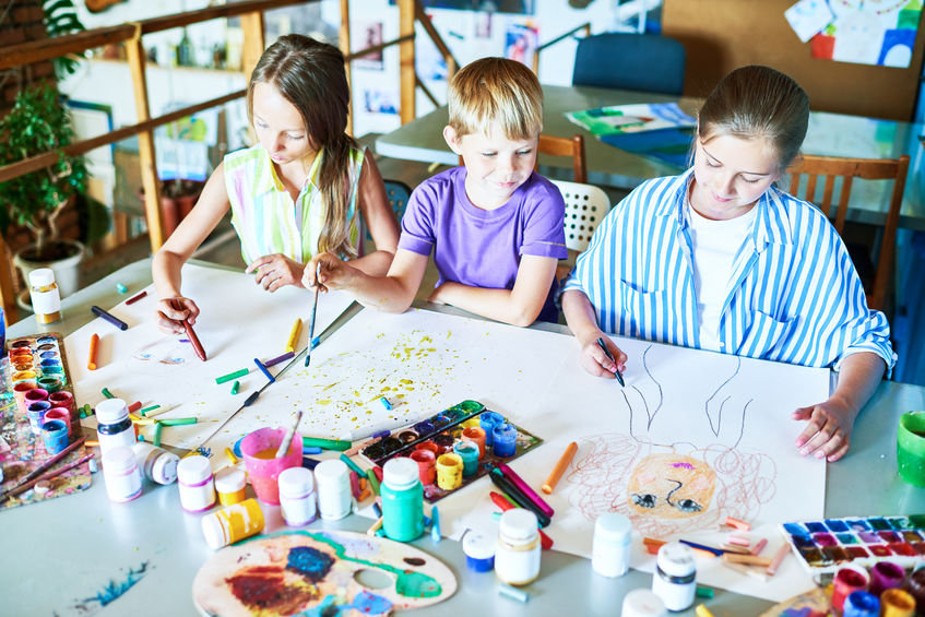 1-1 & Group Mindful Art in Schools