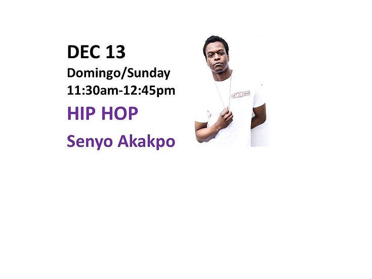 Dec 13 - Hip Hop with Senyo Akakpo