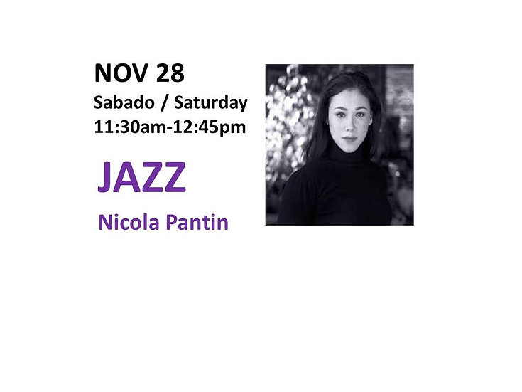 Nov 28 - Jazz with Nicola Pantin