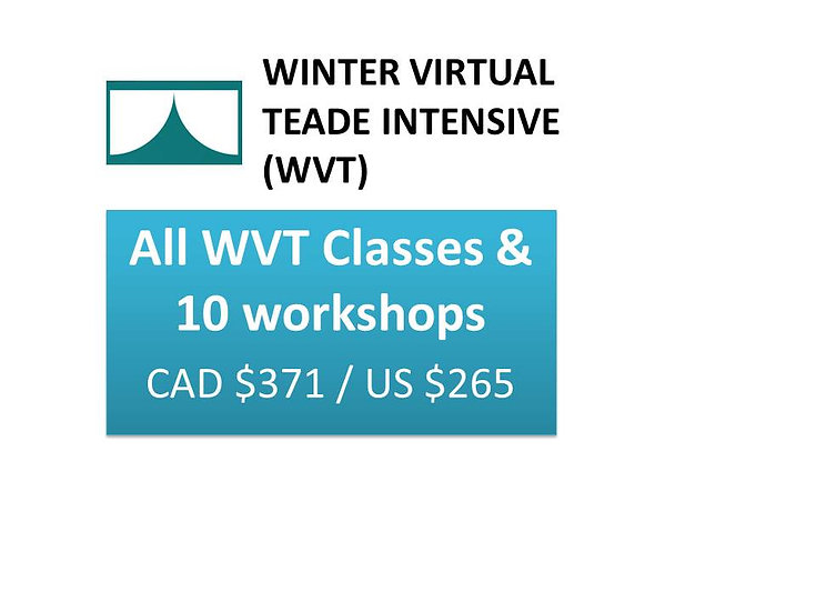 All WVT Classes & 10 workshops