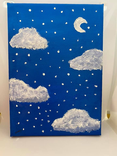 Night sky canvas