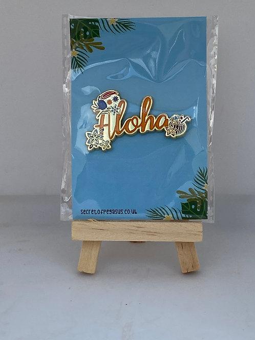 Aloha enamel pin badge
