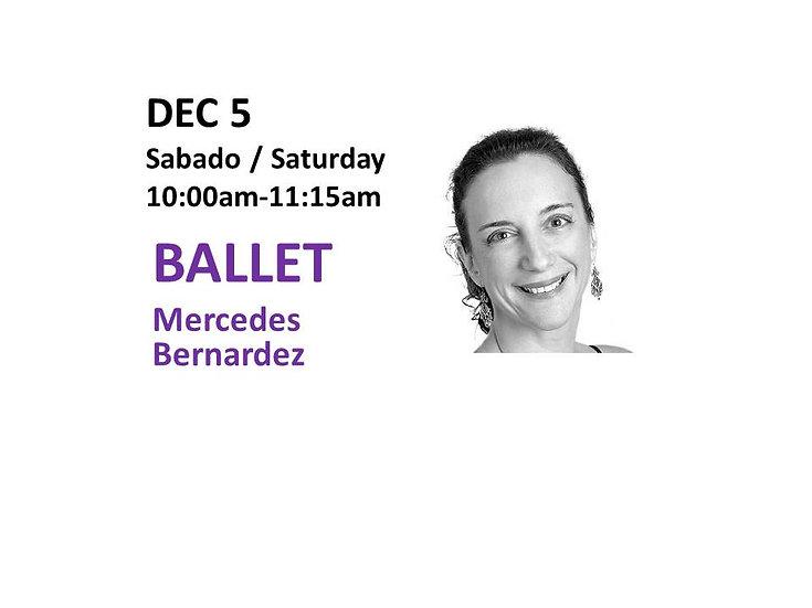 Dec 5 - Ballet with Mercedes Bernardez