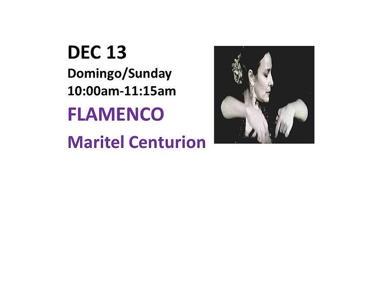 Dec 13 - Flamenco with Maritel Centurion