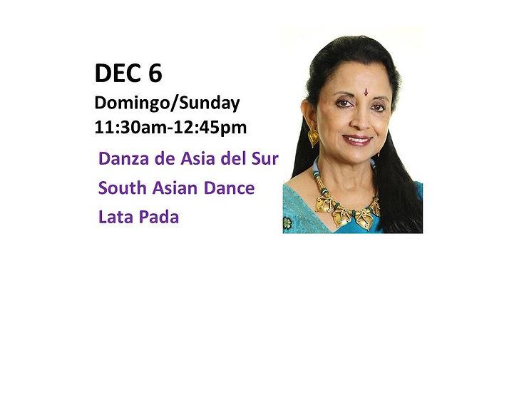 Dec 6 - Danza de Asia del Sur South Asian Dance with LataPada