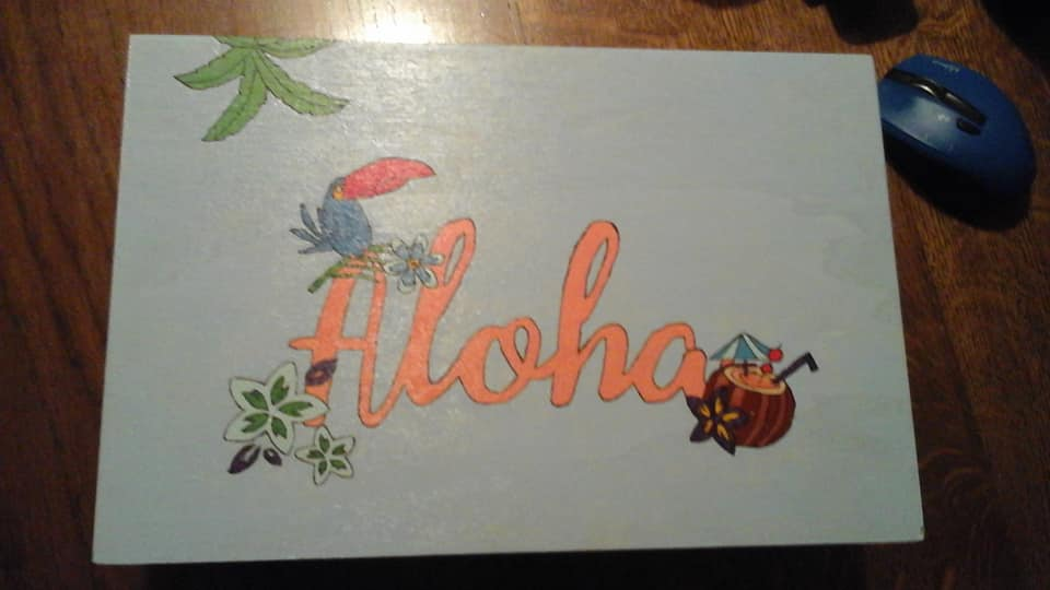 Aloha inspired treasure box