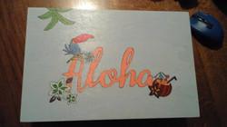 Aloha inspired treasure box