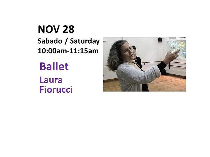 Nov 28 - Ballet with Laura Fiorucci