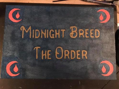 Midnight breed themed hand painted treasure box